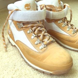 Men's Timberland boots tan/white size 9